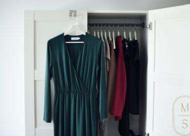 Zielona sukienka midi